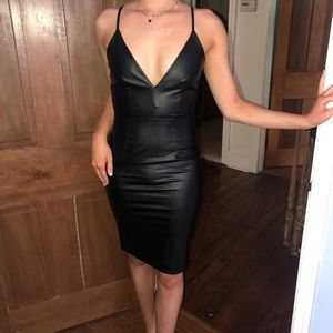 NWT LF heart a lot midi dress pleather Sz. Small